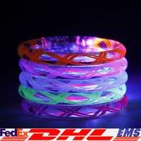 Wholesale LED Luminous Bracelet Flashing Acrylic Bracelet Led Lighted Toys Party Supplies Halloween Party Free DHL XL T123