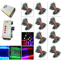 Wholesale 1000pce WS2811 led Pixel Modules DC V mm IP67 RGB input Digital Full Color LED Pixel T1000S Controller Power adapter w