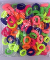 Wholesale The hair ring of fluorescent colour for little girl