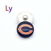 bearing snap ring - NOOSA Chicago sports snap button interchangeable snap bracelets jewelry Bengal bear snap ginger button Chunks Clasps Snap YD0013