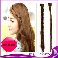 bangs wig fringe - Fish bone wig braid twist fringe wig piece bangs female twist braid costume long braids hair accessory