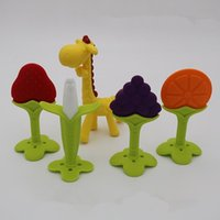 Wholesale Silicon Baby Banana Teether Training BPA FREE Safe Babies Toddler Infant Teething Ring Toothbrush Kids Giraffe Baby Teething toys