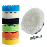 Wholesale 8Pcs quot mm Sponge Polishing Waxing Buffing Pads Kit Compound Polish Auto Car