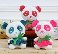bamboo green panda - 18CM Cartoon Bamboo Panda Cartoon Plush Doll Sweet Cute Panda Kids Toy Gifts