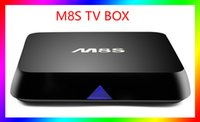 Wholesale MEMOBOX M8S Amlogic S812 Android TV Box Quad Core G G KODI XBMC Dual band G G WiFi Set top box Full HD Movies Smart TV Receiver