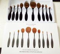 bendable plastic - Oval Makeup Brushes Multipurpose Artis Bendable Toothbrush Shaped Professional Cosmetic Makeup Brushes Set Foundation kit Beauty Brush