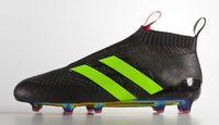 black rose - 2016 ace purecontrol Shoes soccer boots Soccer Shoes Pure Control Football Cleats Soccer Boots Black Rose Pink Green Original Quality