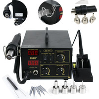 Wholesale 852D Tips ESD PLCC BGA SMD Soldering Rework Station Latest in1 Hot Air Iron