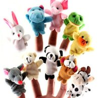 Wholesale Baby Plush Toy Finger Puppets Talking Props animal group good helper for tell story for baby from Lomefo