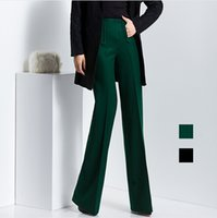 bell bottom pants - New Arrival Womens Wide Leg Pants Fashion Autumn Winter Office Ladies Formal Long Trousers Bell Bottom Pants