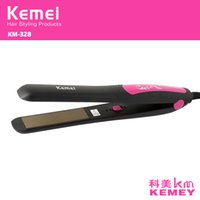 Wholesale Z047 kemei professional pranchas de cabelo straightening Iron hair straightener curling styling tool chapinha ceramic flat irons