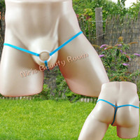 Cheap 6cm Silicone Cock Ring men's sexy Thongs and G-Strings open crotch male gay underwear hipster man Tangas T back Panties erotic Lingerie