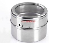 Wholesale 500pcs Magnetic Magical Stainless steel spice jar monosexuality tank sauce pot seasoning bottle
