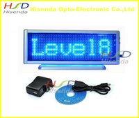 advertising programs - Blue LED scrolling sign message display board desk panel advertising program rechargeable door window led mini advertising panel