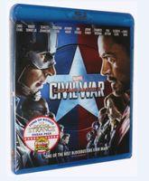 america dvd region - 2016 Blu ray Captain America Civil War BD DVD dvds US version region Factory Price free DHL