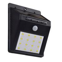 Wholesale ZTECH LED Solar Powered Motion Sensor Light Outdoor Solar Spotlights Garden Patio Pathway Lamps Emergency Lighting