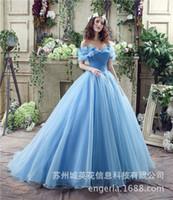beach dinner - Engerla blue brand wedding exports large cargo Cinderella factory direct a generation of fat bride Annual Dinner Wedding dress new