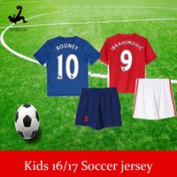 Wholesale Kids ROONEY Football Jerseys Tops Customized Youth IBRAHIMOVIC Soccer Jersey Shirt FELLAINI Soccer WEAR