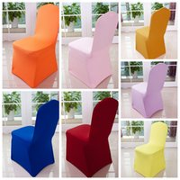 Wholesale Spandex Chair Covers Wedding Party Banquet Dinner Decor universal chair covers multi colors Lycra Chair Cover KKA759