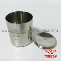 Wholesale BGD Stainless Steel Density Cup ml Capacity Specific Gravity Cup