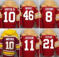 Wholesale Redskins hoodies cheap football jerseys hoody sweatshirts Washington COUSINS JACKSON GRIFFIN III TAYLOR MORRIS red