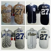 Wholesale Camisa San Diego Padres Matt Kemp Men Baseball Jersey New Design Camoflage Stitched Shirt Camisas Promotion R75