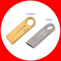 Wholesale 100 Real original Capacity GB GB Waterproof Stainless Rotating Key Chain USB Flash Memory Pen Driver