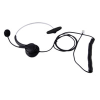 Wholesale New Hot Call Center Pro Operator Telephone Headset With Crystal Head with Mic