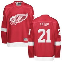 Wholesale 2016 men Detroit Red Wings Jerseys Tomas Tatar Mike Green jersey white red Ice Hockey Jersey Embroidery Stitched