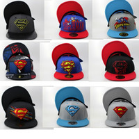 Wholesale 2016 New DC Comics Superman Snapbacks caps baseball hat for men women Adjustable Outdoor Hats Unisex Fashion Hip Hop cap