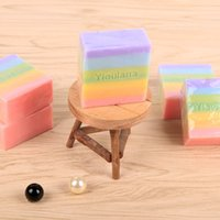 Wholesale DHL SF Handmade rainbow soap face hands body washing oil soap whitening anti acne moisture cleaning Essential soap for men women children