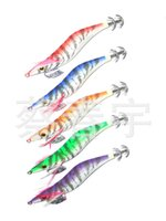 bead spinner - Night Fishing Lures Luminous Squid Jig Hooks Wood Shrimp Artificial Spinner Lure Hard Glow Bait with Ring Beads