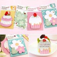 Wholesale 1pc Lovely Flower Cake Sticker Post Bookmark Marker Memo Flag Sticky Notes B00363 SMAD