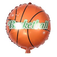 basketball party decorations - 50pcs Basketball Balloons inch Foil Helium Football Balloon Birthday Wedding Party Decoration Children Inflatable Toys