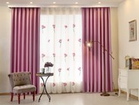 Wholesale Fedex Or Ups Linen Cotton solid color blackout curtains window blackout full bind curtains for living room Bedroom