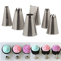 Wholesale 6 Icing Piping Nozzle Cake Decorating Sugar Craft Pastry Tips Tool Set Easy to Use and Clean