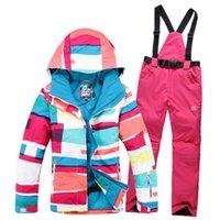 Wholesale New Style Gsou snow Collocation snowboard ski suit jacket clothes sets pants windproof waterproof ski jacket