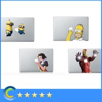Wholesale Homer Simpson Cartoon designed vinyl sticker for Apple Macbook Air Pro Retina inch Laptop stickers skin protectors