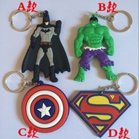 activity keychains - The avenger iron man Captain America Keychain soft double pendant gift gifts activities
