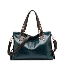 Wholesale High quality Genuine leather shoulder cross body women s handbag tassel square bag