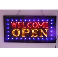 advertising price - 20PCS price x10 x0 LED OPEN Animated LED advertising welcome open business sign high quality