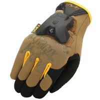 battery gloves - Waterproof electric torch glove Mechanix New arrive Outdoor sport hike hand support detachable LED battery light