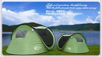 Wholesale 2016 freeshipping quality boat shape automatic tent family tent for camping hiking picnic beach