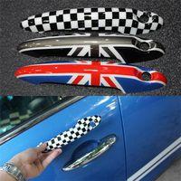 auto accessories bmw - 2Pcs Set Car Styling Union Jack Door Handle Cover Trim For BMW Mini Cooper Countryman Auto Accessories