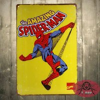 Wholesale THE AMAZING SPIDER MAN RETRO POSTER A4 THICK Marvel Comics VINTAGE Wall Art