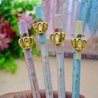 Wholesale Kawaii crown design gel pens mm black pen zakka material Office supply