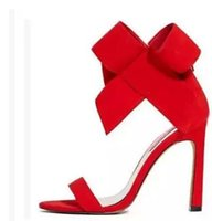 Wholesale Summer Ribbon Sandals - 2016 Sexy shoes women sandals high heels Wedding Shoes Bridal Shoes Bowknot Sandals Pump Fashion High-heeled Shoes Party Shoes