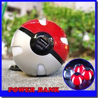 big balls band - Newest Poke Go ball powerbank cute cartoon mah creative big band power bank for iphone for samsung S7 all phones