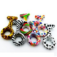 Wholesale zebra leopard silicone nurse watch nurse gift fob watches white dots nurse watches spot water transfer inprint silicone doctor hospital