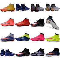 kids shoes cheap - Men Kids Soccer Boots Cleats Boys Mercurial Superfly CR7 FG TF Children Cheap Soccer Shoes Cristiano Ronaldo Youth Women Turf Football Boots
